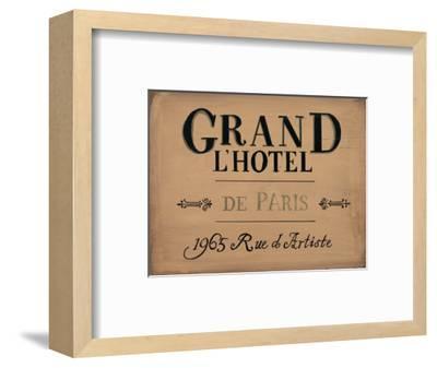 Grand l'Hotel--Framed Art Print