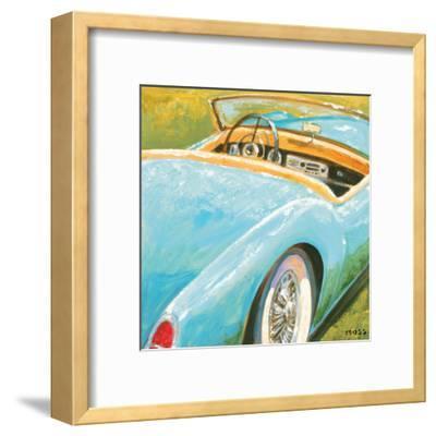 Roadster II-P^ Moss-Framed Art Print