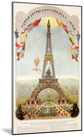 Universal Exposition Fair, Paris, c.1889--Mounted Giclee Print