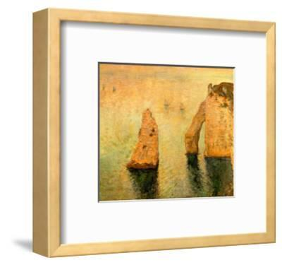 Rocks at Sea-Claude Monet-Framed Giclee Print