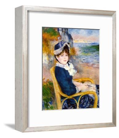 By the Sea Shore-Pierre-Auguste Renoir-Framed Giclee Print