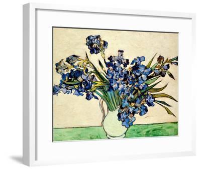 Vase of Irises, c.1890-Vincent van Gogh-Framed Giclee Print