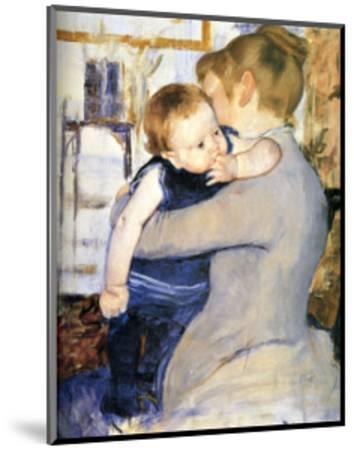 Child in Blue-Mary Cassatt-Mounted Giclee Print