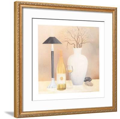 Still Life with Black Lamp-Heinz Hock-Framed Art Print