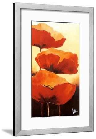 Three Red Poppies I-Jettie Rosenboom-Framed Art Print