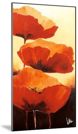 Three Red Poppies I-Jettie Rosenboom-Mounted Art Print