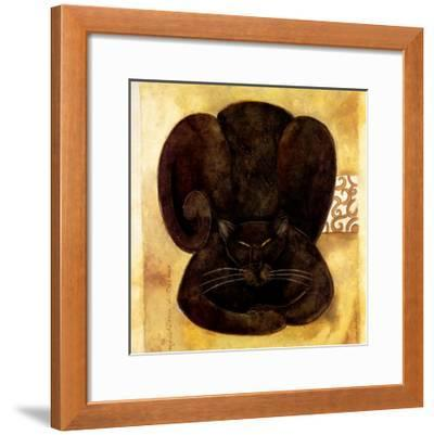 Meditation du Chatman-Aline Gauthier-Framed Art Print