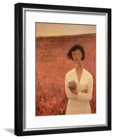 Le Champ de Trefles-Jean Paul Lemieux-Framed Art Print