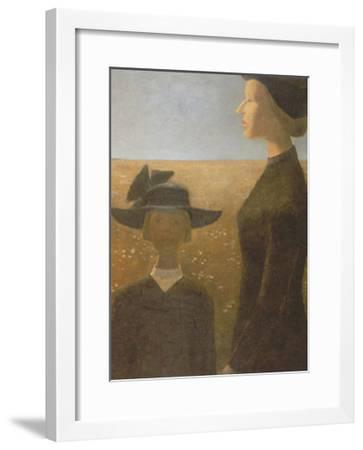 Mort Par un Clair Matin-Jean Paul Lemieux-Framed Art Print