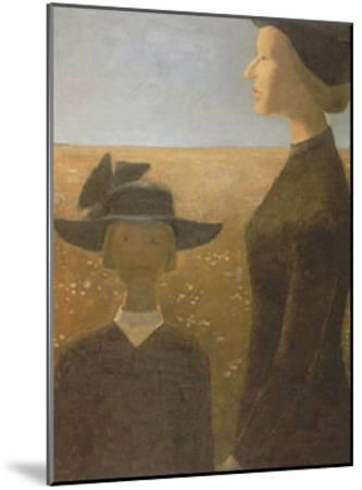 Mort Par un Clair Matin-Jean Paul Lemieux-Mounted Art Print