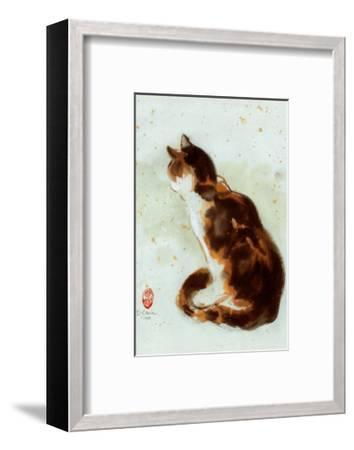 Dehong's Cat-Hu Chen-Framed Art Print