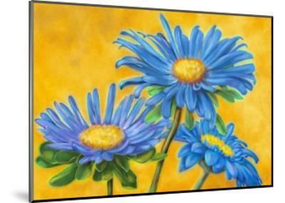 Blue Asters-M^ De Flaviis-Mounted Art Print