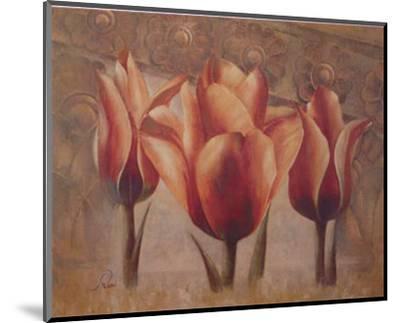 Triple Tulip III-Rumi-Mounted Art Print