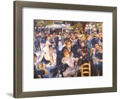 Le Moulin de la Gallette-Pierre-Auguste Renoir-Framed Art Print