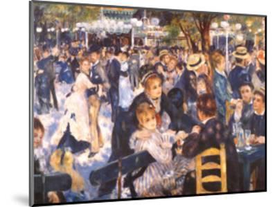 Le Moulin de la Gallette-Pierre-Auguste Renoir-Mounted Art Print