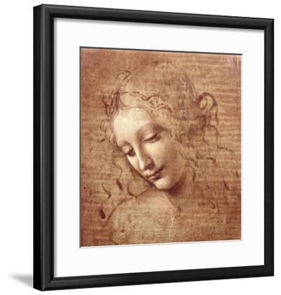 Female Head (La Scapigliata), c.1508-Leonardo da Vinci-Framed Art Print