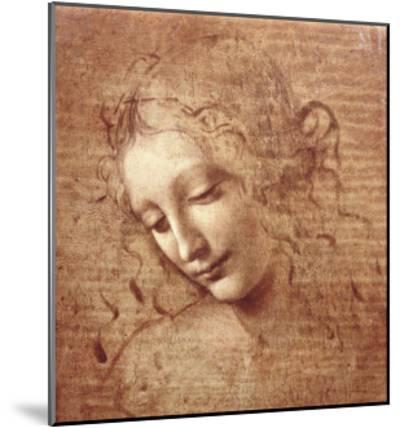 Female Head (La Scapigliata), c.1508-Leonardo da Vinci-Mounted Art Print