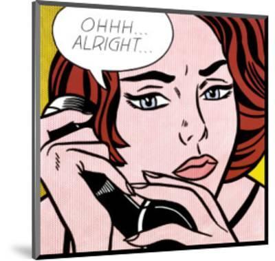 Ohhh...Alright..., 1964-Roy Lichtenstein-Mounted Art Print