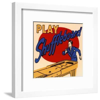 Play Shuffleboard--Framed Art Print