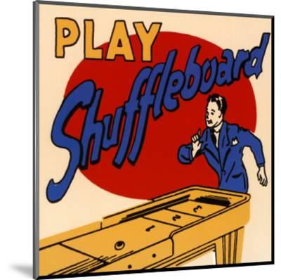 Play Shuffleboard--Mounted Art Print