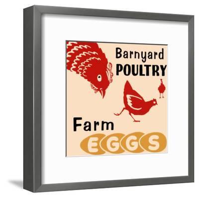 Barnyard Poultry-Farm Eggs--Framed Art Print
