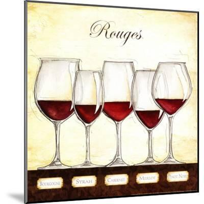Les Vins Rouges-Andrea Laliberte-Mounted Art Print