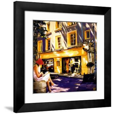 Trattoir Parisien-Oana Lauric-Framed Art Print