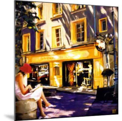 Trattoir Parisien-Oana Lauric-Mounted Art Print