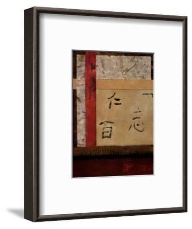 Asian Collage II-Mauro-Framed Art Print