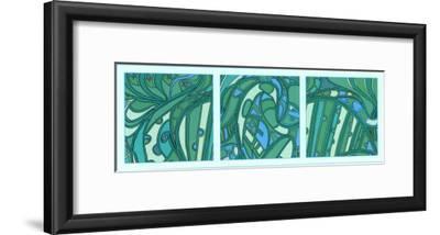 Aqua Fission I-Tina Kafantaris-Framed Art Print