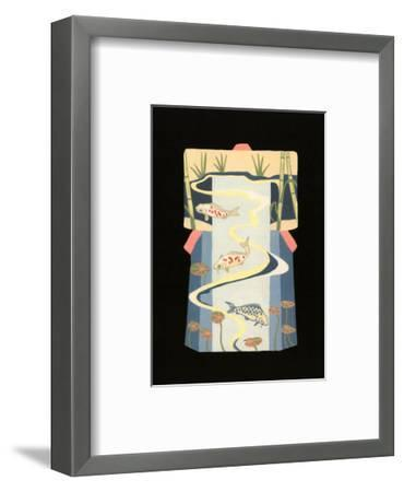 Koi Pond-Vanna Lam-Framed Art Print