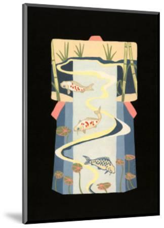 Koi Pond-Vanna Lam-Mounted Art Print