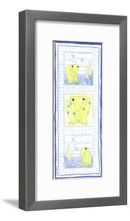 Frog Trio-Megan Meagher-Framed Art Print