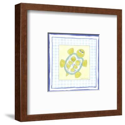 Turtle with Plaid IV-Megan Meagher-Framed Art Print