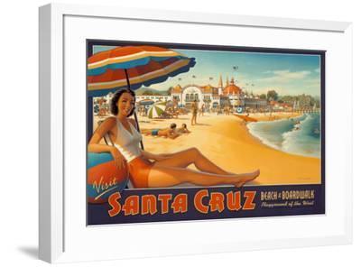 Visit Santa Cruz-Kerne Erickson-Framed Art Print