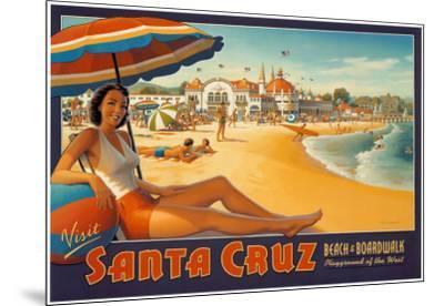 Visit Santa Cruz-Kerne Erickson-Mounted Art Print