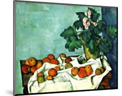 Still Life with Apples and Primroses--Mounted Giclee Print