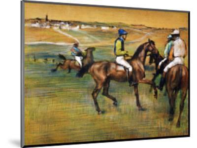 Race Horses-Edgar Degas-Mounted Giclee Print