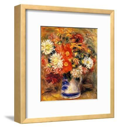 Chrysanthemums in Vase-Pierre-Auguste Renoir-Framed Giclee Print