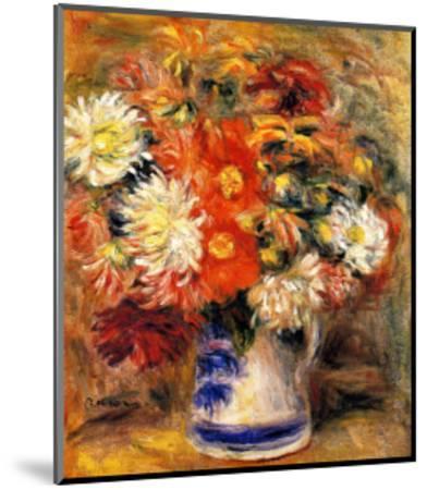 Chrysanthemums in Vase-Pierre-Auguste Renoir-Mounted Giclee Print