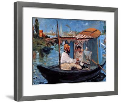Monet Floating in His Studio-Edouard Manet-Framed Giclee Print