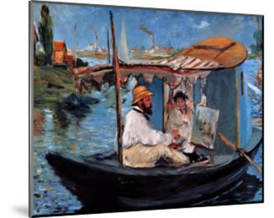 Monet Floating in His Studio-Edouard Manet-Mounted Giclee Print