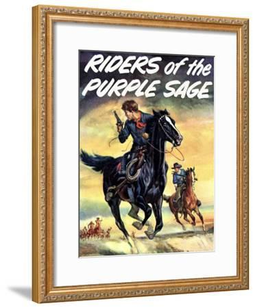 The Riders of the Puple Sage--Framed Giclee Print