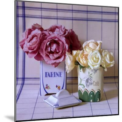 Pot's and Roses-Camille Soulayrol-Mounted Art Print