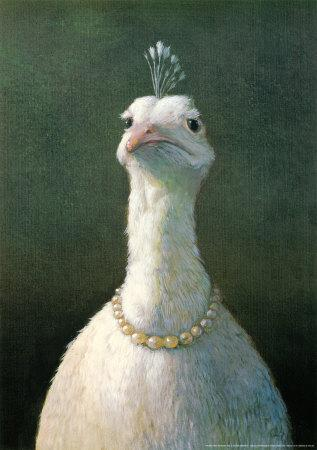 Fowl with Pearls-Michael Sowa-Mounted Art Print