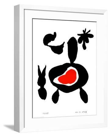 Untitled, January 14, 1947-Joan Mir?-Framed Art Print