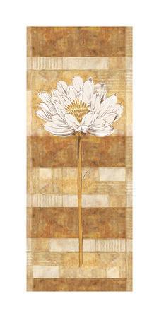 Flora Blanca II-Linda Wood-Framed Art Print