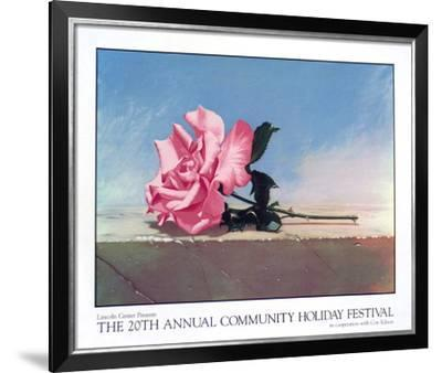 Community Holiday Festival, 1990-John Kelley-Framed Serigraph
