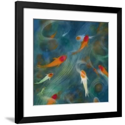 Koi Zen I-Lun Tse-Framed Art Print