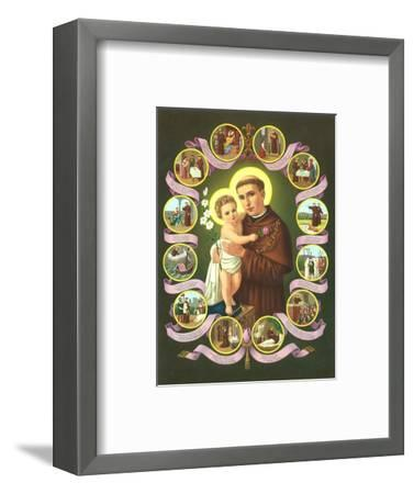 Hl. Antonius von Padua--Framed Art Print